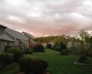 My backyard tonight…